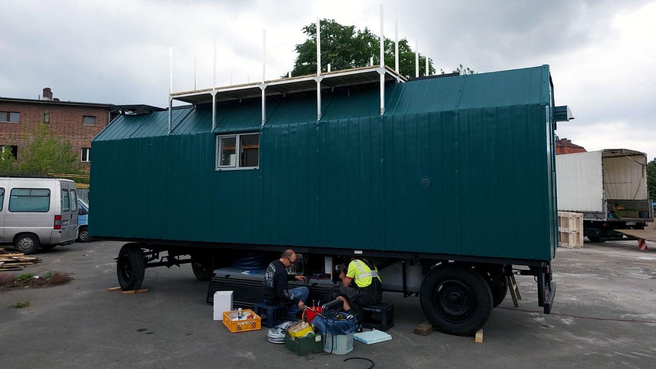 Bauwagen Umbau zum Tiny House Berlin - Castorwagen vom VEB Kafa Halle/S.